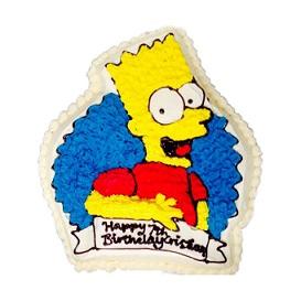 Remarkable Bart Simpson Shaped Ice Cream Cake Melbourne Personalised Birthday Cards Veneteletsinfo
