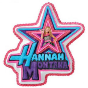 hanna montana shaped ice cream cake