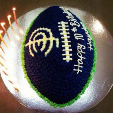 football shaped ice cream cake
