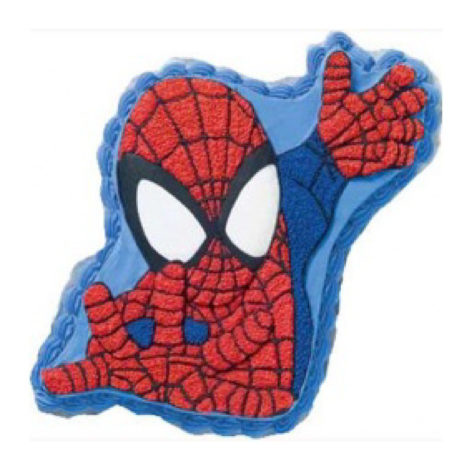 spiderman shaped ice cream cake