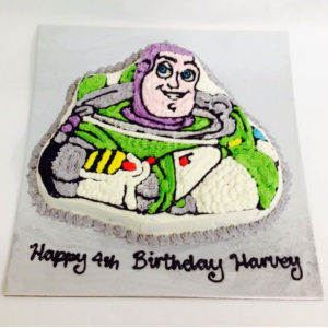 buzz lightyear shaped ice cream cake