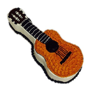 Groovy Guitar Shaped Cake Birthday Cake Shop Funny Birthday Cards Online Barepcheapnameinfo
