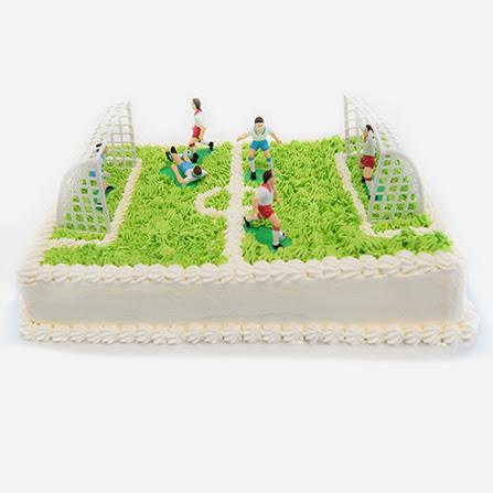 Remarkable Soccer Field Shaped Ice Cream Cake Melbourne Funny Birthday Cards Online Aboleapandamsfinfo